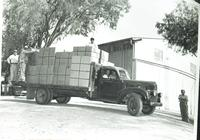 Transportation truck at Ecke Ranch