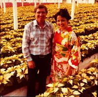 Paul Ecke Jr. in the Paul Ecke Greenhouses in Encinitas, CA