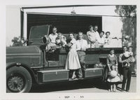 Ecke Firetruck with family members